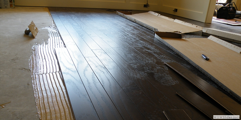 Engineered Hardwood Flooring Installation On Concrete   Wood Floors