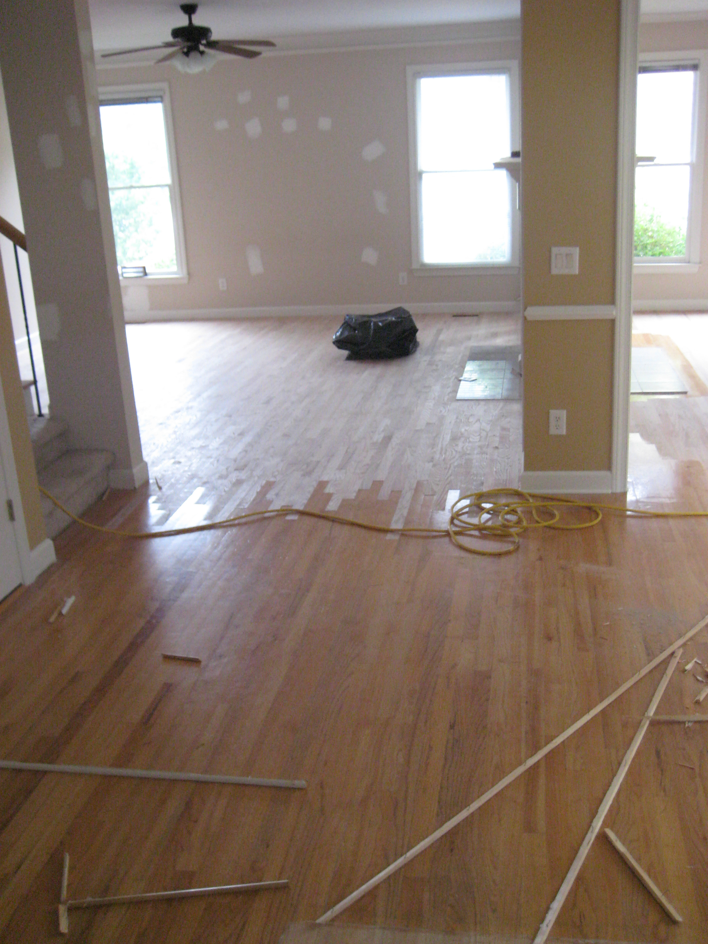 ... Before Hardwood Floor Refinishing