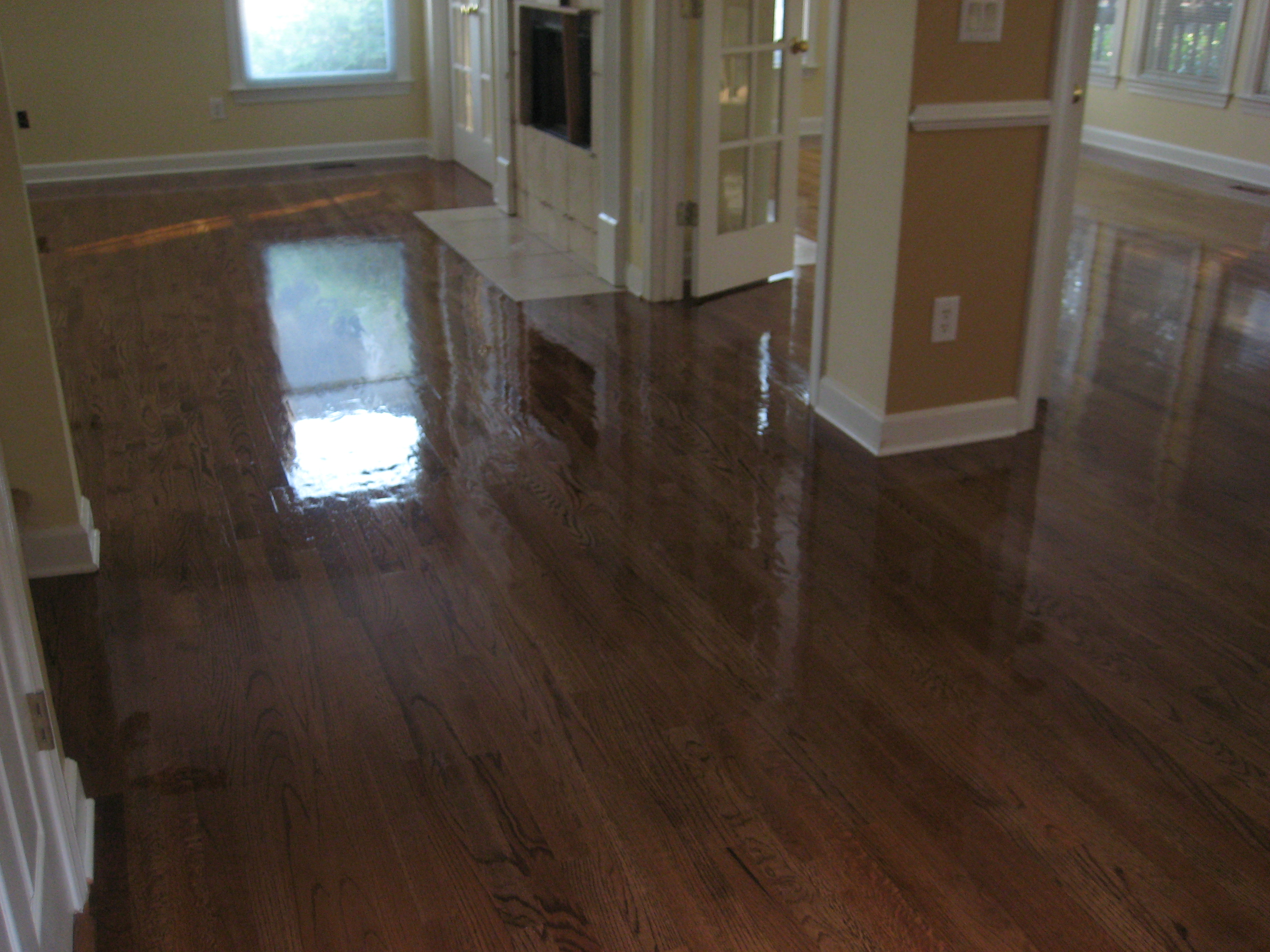 how to fix water stain on hardwood floor