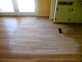 Hardwood floor repair and refinishing in Decatur, GA